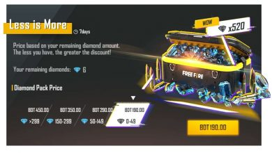free fire Less is more special offer