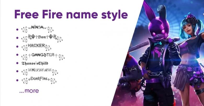 free fire nickname style